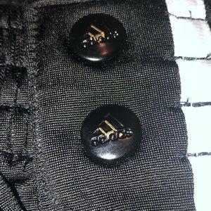 Black rip-away adidas sweatpants